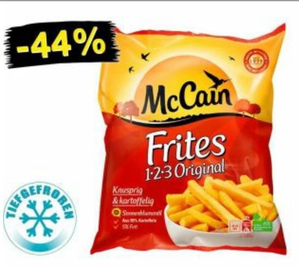 [Netto Marken Discount] Nur Samstag 27.09:McCain 1-2-3 Frites Original (750g) nur 1€ ohne Coupon!!