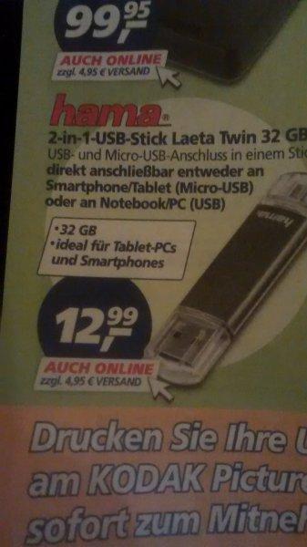 [Real] 32GB USB 2.0 Stick mit OTG und normalem Stecker