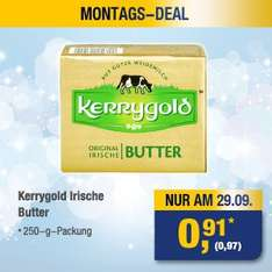 [METRO / nur 29.09.] Kerrygold Irische Butter / 250g - 0,97€