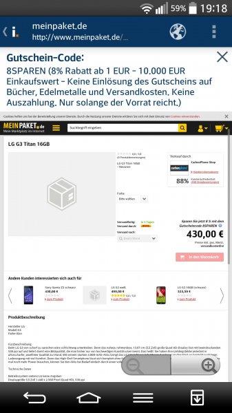 LG G3 Titan 16 Gb