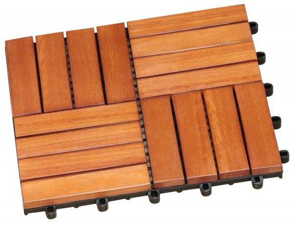 Brema Eukalyptus FSC Terrassenfliesen 11 Stück 23,64€ statt 49,95€ bei Amazon
