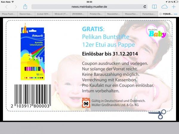 [MÜLLER] GRATIS Pelikan Buntstifte 12er Etui aus Pappe