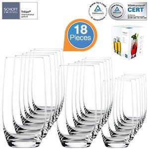18 Schott Zwiesel Gläser - Set aus Tritan®-Kristallglas für 34,95€ zzgl. 5,95€ Versand @iBOOD