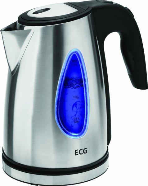 [Blitzangebot] ECG RK 1740 KE Wasserkocher, 2000 W, Fassungsvermögen 1.7 l, Drehbar um 360°, Abnehmbarer Filter, Edelstahl für 16,99€ @Amazon
