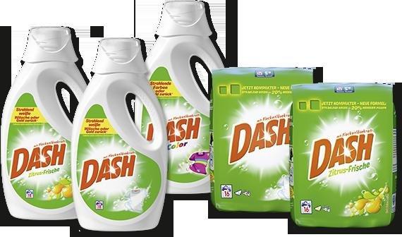 [REAL bundesweit] Dash Waschmittel 16W / 18W, verschiedene Sorten für je 1,29€
