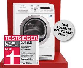 [Heidelberg] AEG LAVATHERM-Wärmepumpentrockner TÖKO+++IH A+++ 8kg Stiftung Warentest - Testsieger 09/2014 für 799€ @MediaMarkt