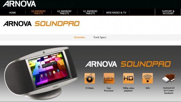 (Groupon)  Arnova Soundpad Android Radio 89€ (-8,09€ quipu)