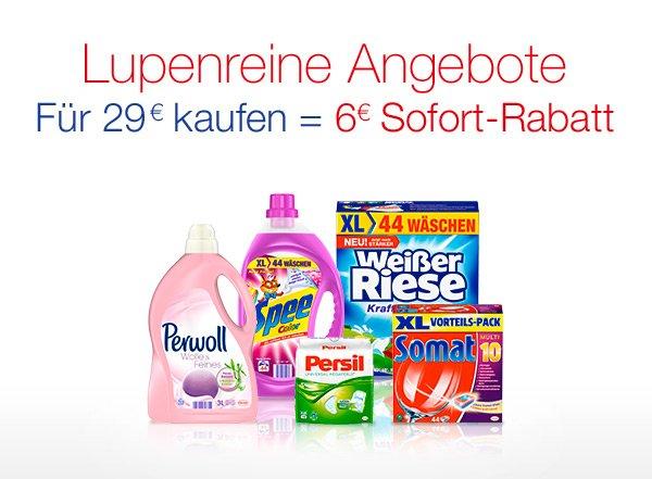 [Amazon] 6€ Rabatt bei Henkel Produkten für mindestens 29€ (Somat / Persil / Perwoll / Weißer Riese / Spee)