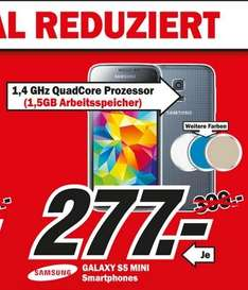 Samsung Galaxy S5 Mini für 277€ Lokal @ Mediamarkt Köln Kalk