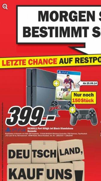 [Media Markt Mülheim] PS4 + Fifa15 + 2. Controller für 399 €