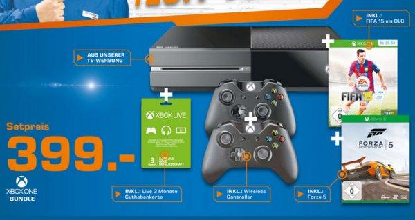 XBox One + Forza 5 + Fifa 15 + 2. Controller + 3 Monate Goldmitgliedschaft ab 399€ @saturn.de