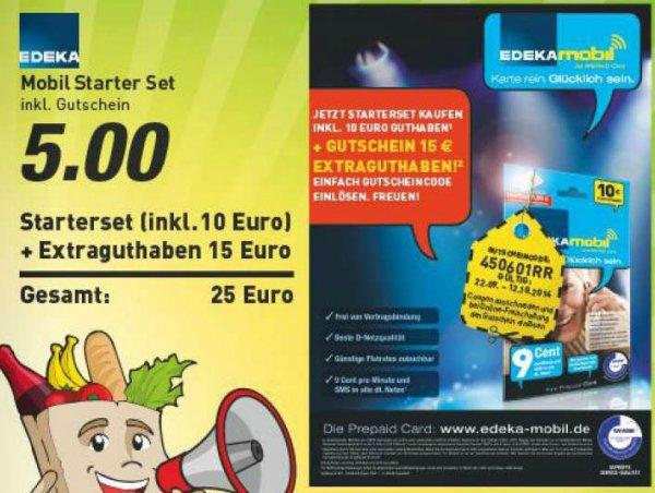 [Marktkauf] Edeka-Mobil Prepaid für 5€ mit 10/25 Startguthaben.