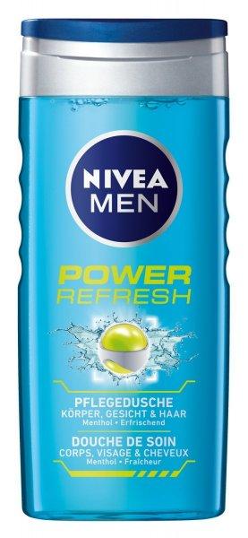 [Amazon-Blitz-Deal] Nivea bis 40 % - u.a. 4x 250 ml - Nivea Men Power Refresh Pflegedusche (Prime)