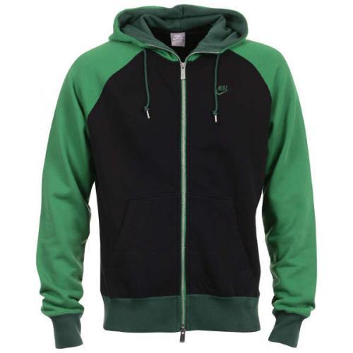 Restposten: Men's Nike Full Zip Hooded Top - Green Größe XXL @Sportdiscount.com
