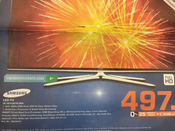 Lokal Hamburg Samsung 48 H 6270 497€ Statt 577€