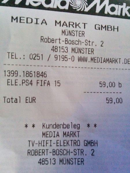 [Lokal Münster - Media Markt] Fifa 15