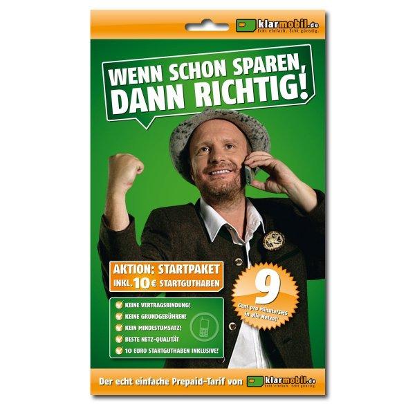 (lokal Karlsruhe) Klarmobil Prepaid Karte mit 10€ Startguthaben für 1€ bei Saturn