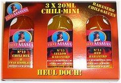 [Lokal Köln-Marsdorf? Globus] Hot Mamas Chili-Mini. 3er Pack a 20ml zum testen, orig. Preis 5,99€
