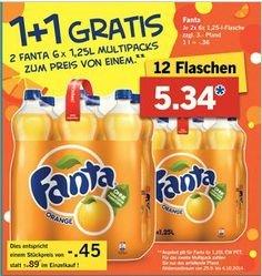 [Lidl ab 29.09.] 12 Flaschen Fanta 1,25l für 0,35€/Liter