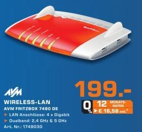 Lokal @ Saturn Witten - Fritzbox 7490 DE Wlan Router für 199,00