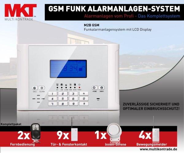 Multi Kon Trade GSM Funk Alarmanlage Set-4 für 165€ @ Comtech