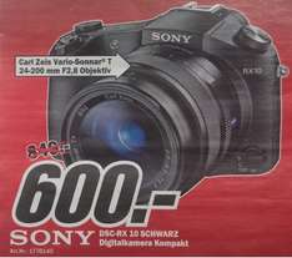 [Lokal] Sony RX10 für 600€ @MM Lüneburg