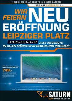"[Lokal] [Berlin] Macbook Air 13"" 749€ @ Saturn"