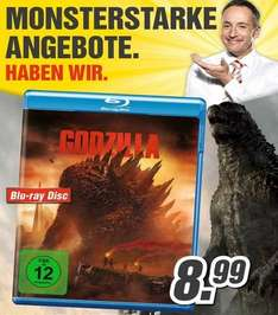MediMax (bundesweit?) Godzilla 2014 Blu-Ray für 8,99€