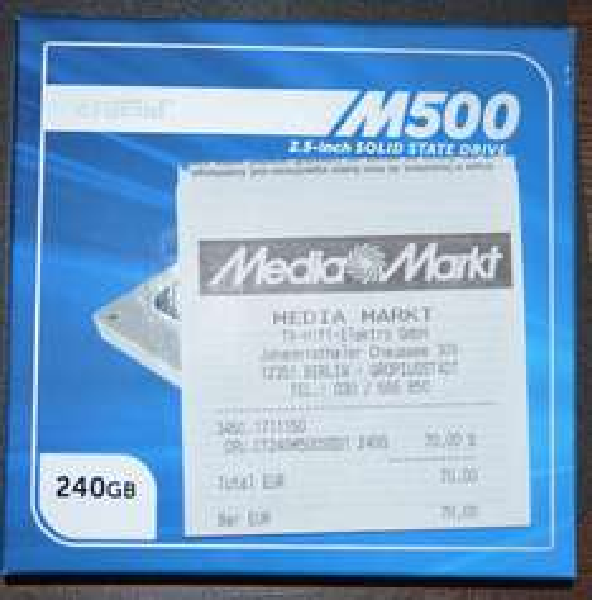 [Lokal MM Berlin Gropiuspassagen] Crucial M500 240GB SSD für 70,00€