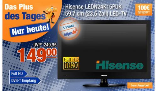 """23,5"""" LED-TV Hisense LEDN24K15PUK @Plus"""