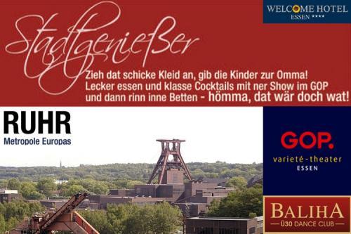 Eine Übernachtung Welcome Hotel Essen + GOP-Show statt 150€ hier 90€