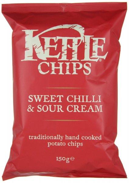 [Amazon Prime] 4 Beutel Kettle Chips Sweet Chili & Sour Cream für 4,49 dank Coupies
