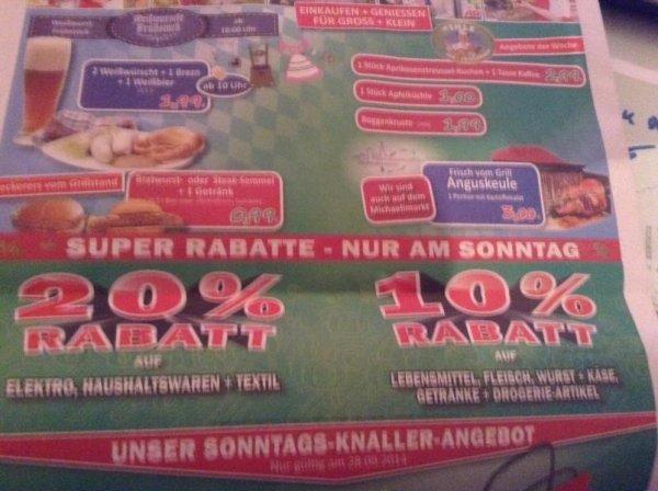 [Schwabmünchen+A-Göggingen@Marktkauf] 20% auf Elektro+Haushalt+Textil, 10% auf Lebensmittel am 28.09.