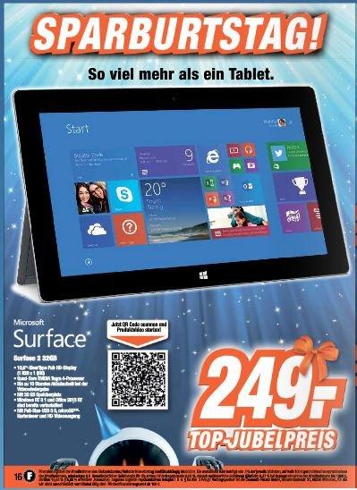 [Lokal] Neustadt Rbge Surface 2 32GB 249€