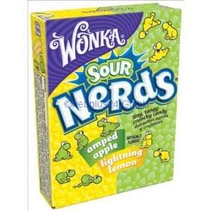 [Preisfehler] Wonka Saure Nerds - Apfel, Zitrone (24x 46,7g Packung) für 1,79 € + Versand