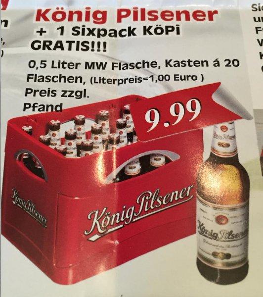 [Lokal Moers] Bier Kasten KöPi + SixPack für 9,99 €