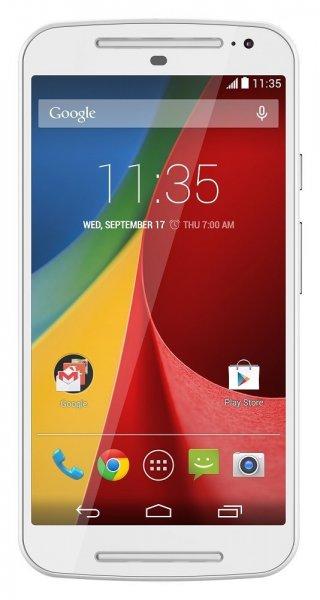 """MOTOROLA Moto G - 2. Generation - 5"""" / Dual Sim / weiß / Android™ 4.4.4  für 164,08 € @Amazon.es"""