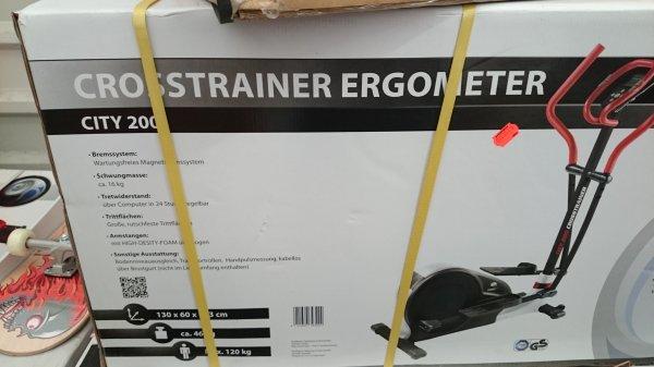 Crosstrainer city 200 Idealo 229 Euro für 150 Euro im Real Siegen im Zelt!