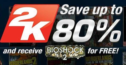 [GameFly] 2K Sale (-80%) inkl. Bioshock 2 kostenlos bei Bestellung. Z.B. Spec Ops: The Line 4,34€
