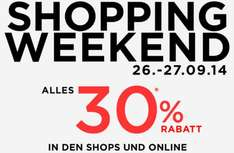 Mango Shopping Weekend -30% vom 26.-28.9.2014 Gutscheincode 5WEEKEND