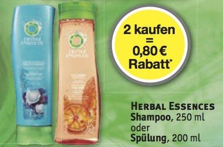 ROSSMANN: Herbal Essences für 0,89 € pro Flasche