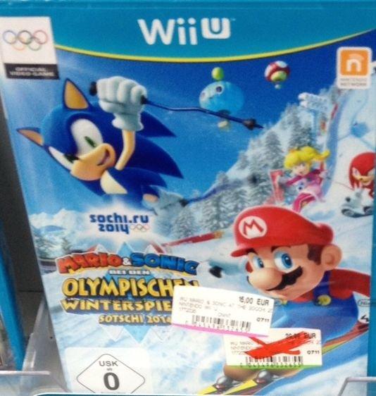 [Lokal] Media Markt Ansbach - Mario und Sonic bei den Olymp. Winterspielen für Wii U 15 Euro u.a.