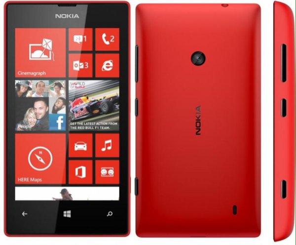 Nokia Lumia 520 rot / gelb vsk-frei @mediamarkt