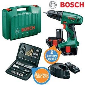 Bosch Akkuschrauber PSR 12 Set inkl. 2 Akku und 51 teiliges Zubehör / 75,90€ inkl. Versand / Idealo ab 93,98