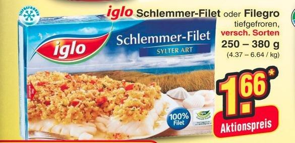 [Netto Marken Discount] Iglo Filegro oder Schlemmer-Filet für 1,66€