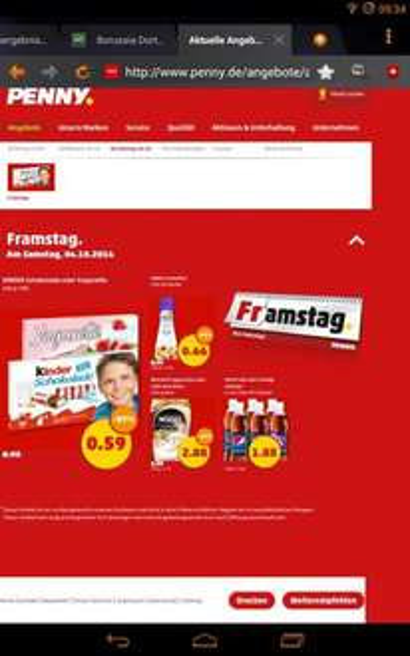 [penny/Samstag(4.10.14)] rama cremefine für 0,41€{Angebot+coupon}