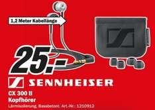 [lokal Aachen] Sennheiser CX 300 II