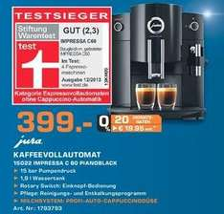 [Saturn in Hamburg]  Jura Impressa C60 Kaffeevollautomat