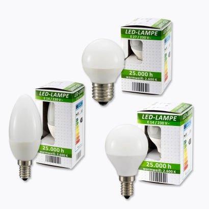 Aldi Nord: E14- und E27- LED -Lampen mit Top-Farbwiedergabe für 5,99 €