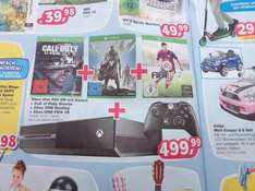 Xbox One 500 GB mit Kinect + Call of Duty Ghosts + Destiny + Fifa 15 (bundesweit @ ToysRus inkl. Tiefpreisgarantie)